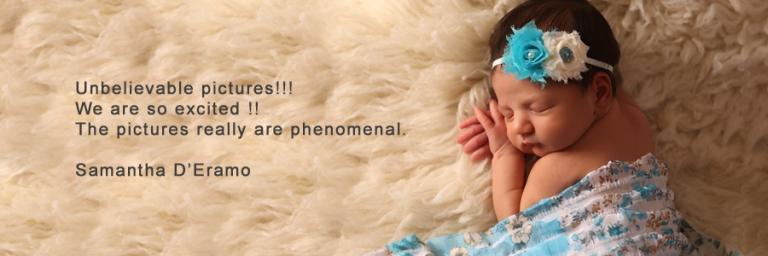 cecelia's newborn picture on white fur