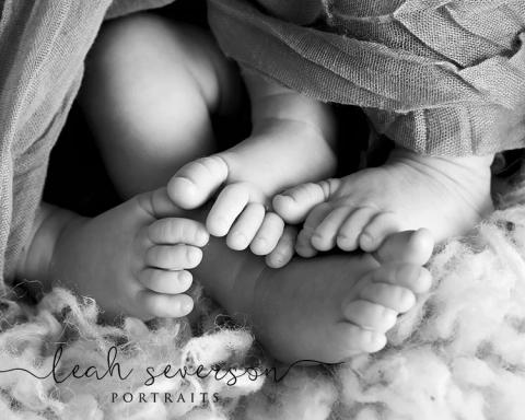 newborn baby feet indianapolis