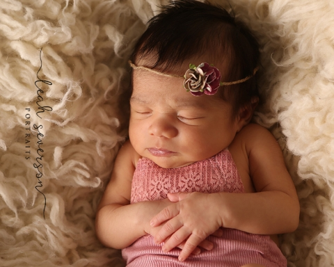 carmel in baby photography of sirsha wearing pink