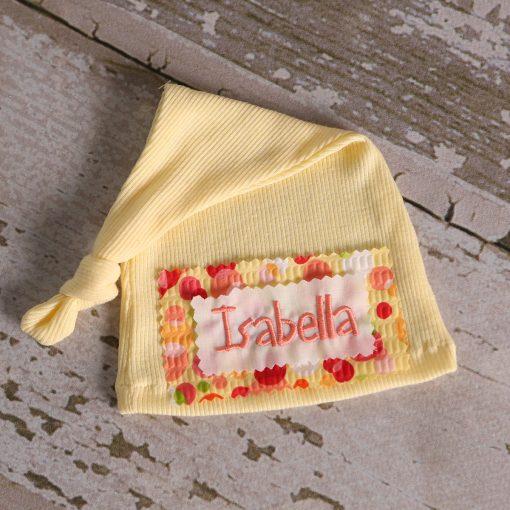 best newborn photographer indianapolis yellow hospital hat