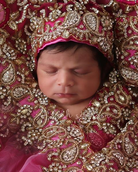 indian wedding headdress baby