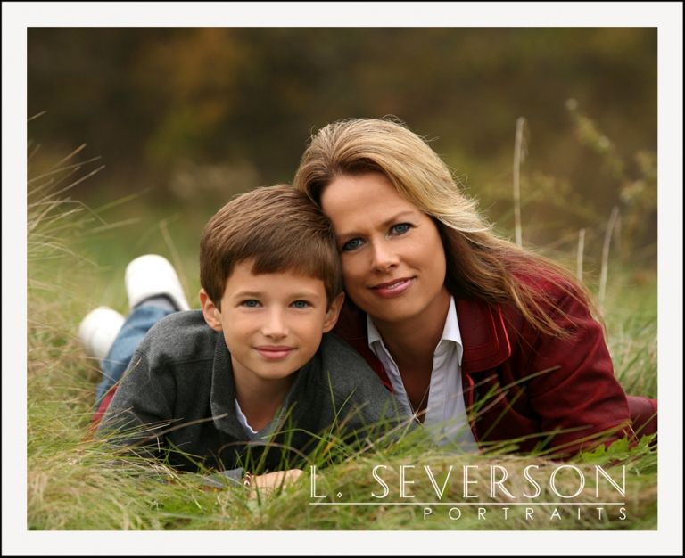 Kelly and her son portrait