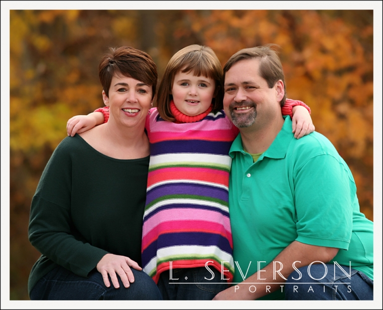 fall family portraits in indianapolis