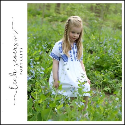 portraits bluebell field children indiana