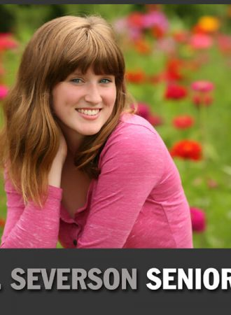 senior photography of saide in flower field in indianapolis