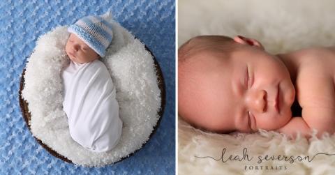 newborn portraits of Adler sleeping in Carmel, IN