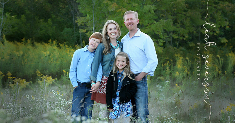 outdoor family photography in Westfield, Indiana of Dr. Cami Hovda