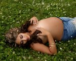 maternity photography alex in field in carmel, indiana