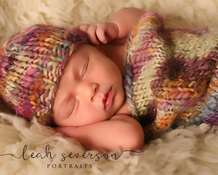 newborn photographer indianapolis baby halle sleeping