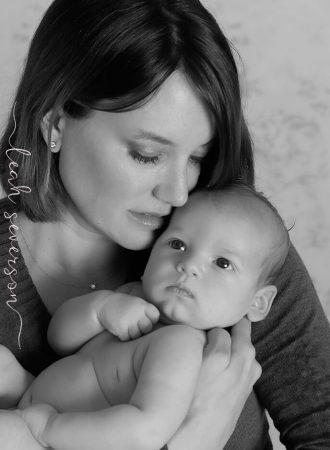newborn baby camden portrait with mom