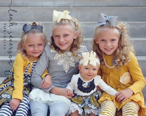 flannagan children posing for photograph