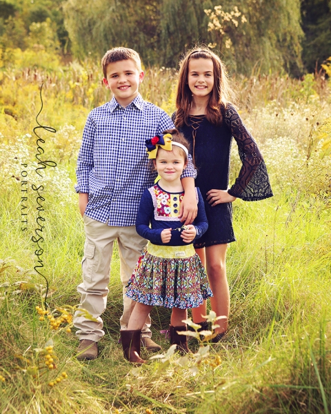 outdoor fall portraits in westfield