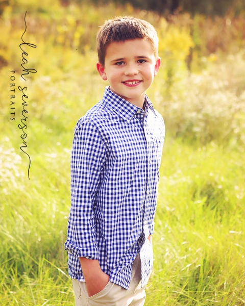 outdoor fall portrait in carmel of chase