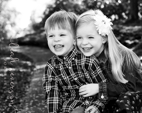 childrens portrait of hailey and noah