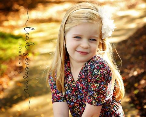 hailey smiles for photographer