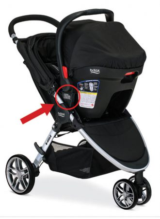 newborn photography picture of stroller involved in recall indianapolis