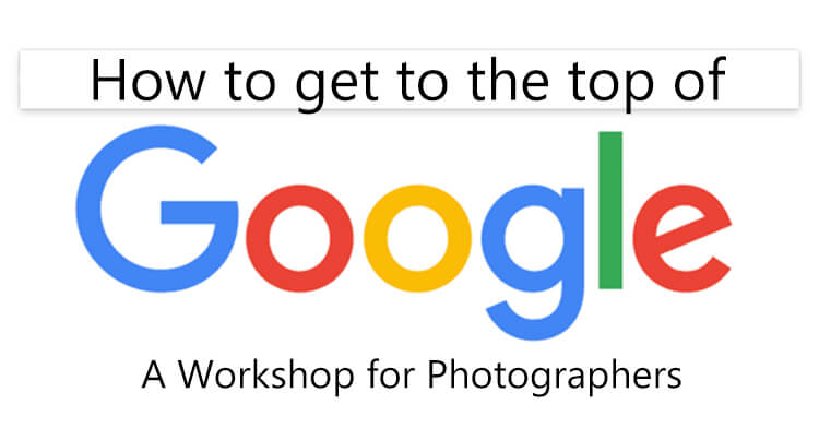 search engine optimization for photographers and small business live workshop