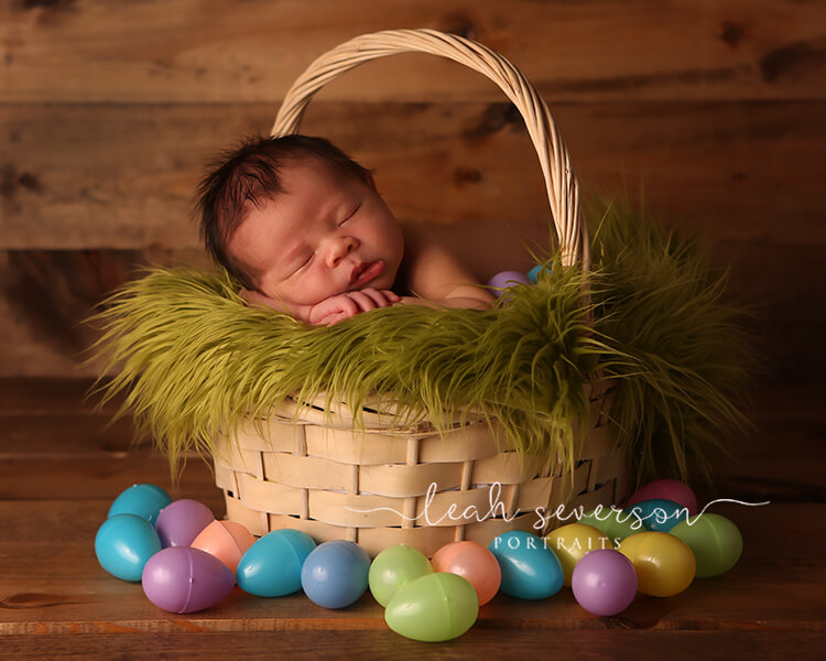 newborn baby noah in basket
