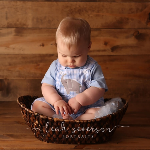 baby photographer indianapolis boy in basket