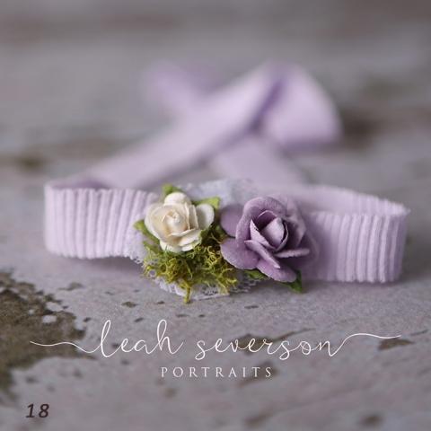 newborn photo prop indianapolis best purple floral tieback
