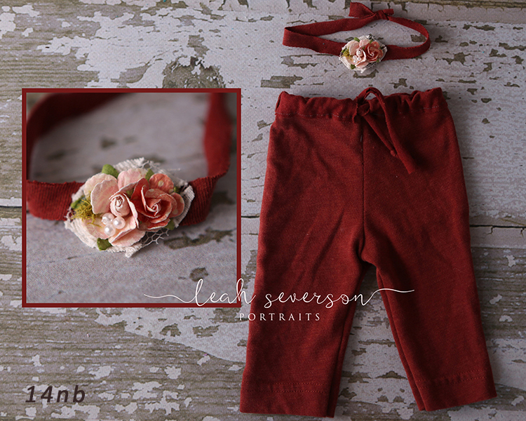 newborn photography prop floral tieback with pants carmel indiana