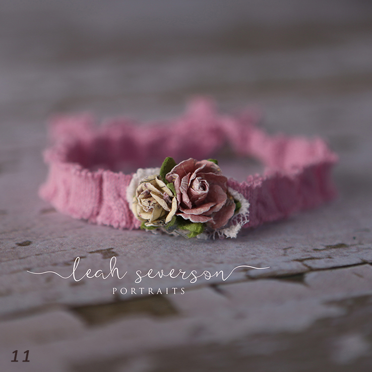 newborn floral tieback photography prop carmel in