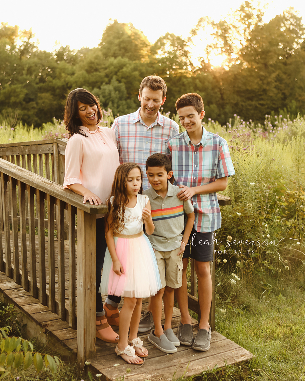 outdoor family portrait aileen helton dentistry on 116 carmel indiana