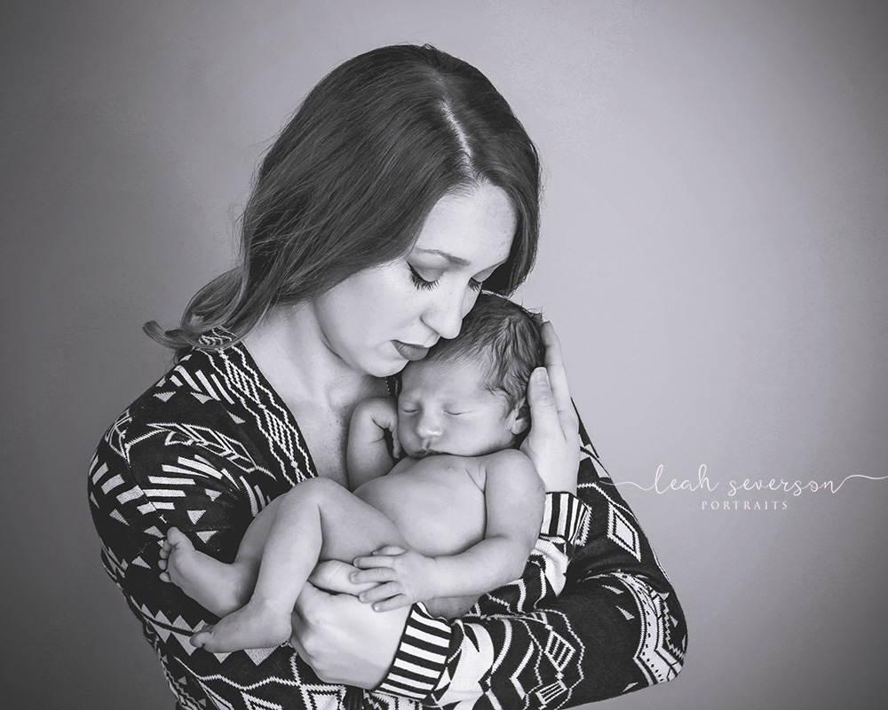 newborn with mother photoshoot carmel indiana