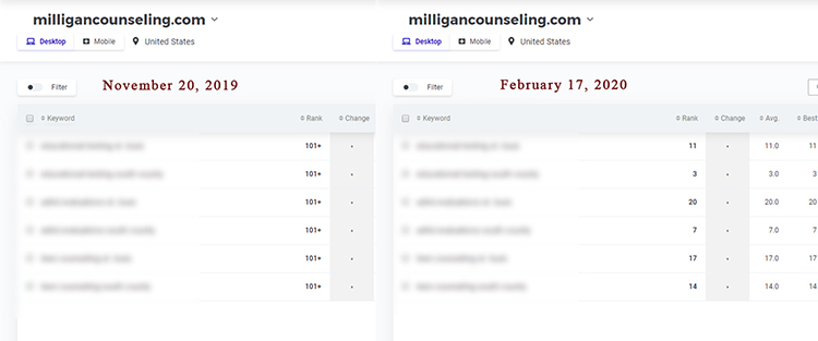 seo for small business consulting client