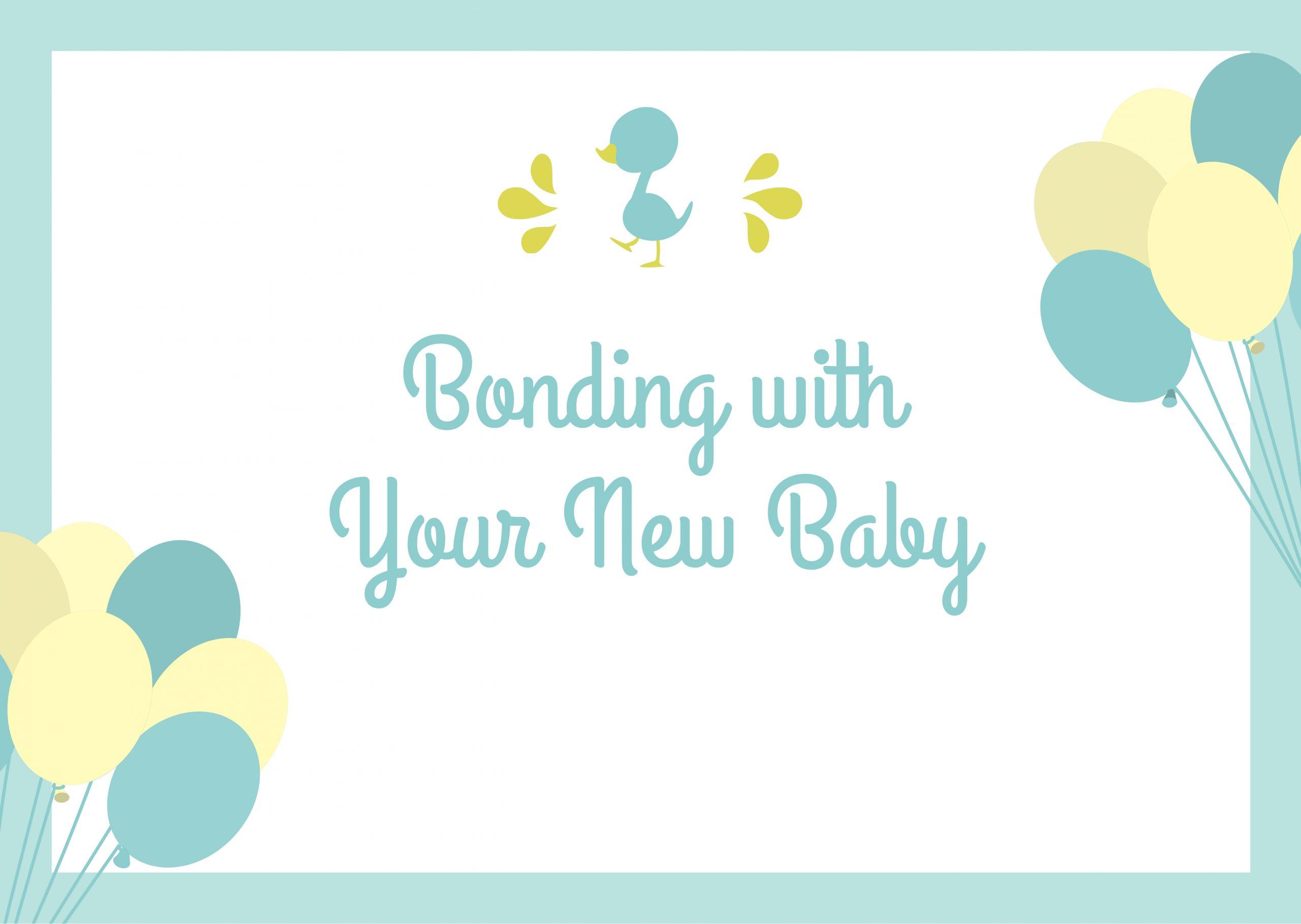 bonding with your newborn baby