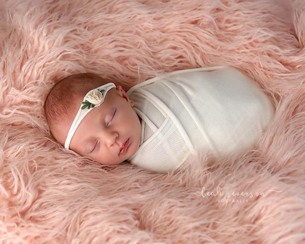 baby sleeping newborn photography