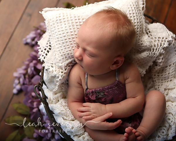 sleeping newborn baby photography indianapolis