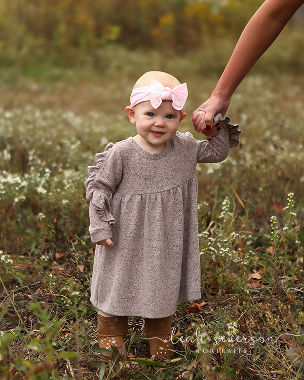 indianapolis photographer outdoor flower field baby