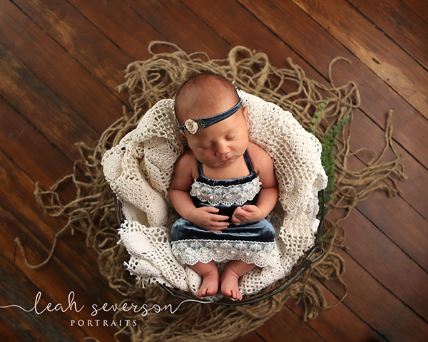 newborn photography indianapolis baby in basket