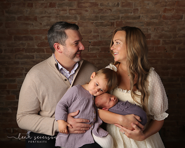 newborn family portrait indianapolis
