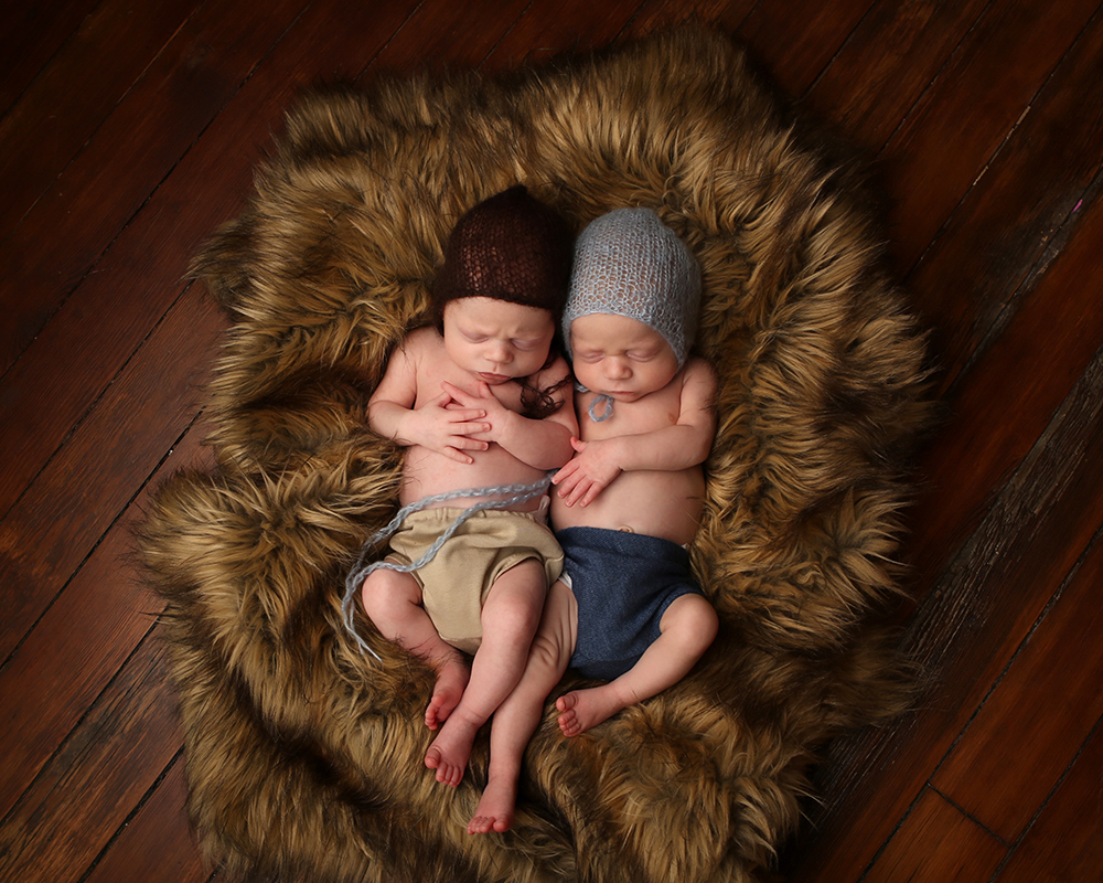 newborn twin photography indianapolis