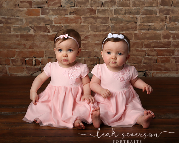 twin first birthday photoshoot indianapolis