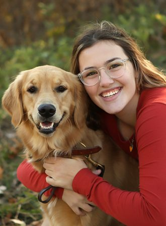 senior picture westfield girl with dog