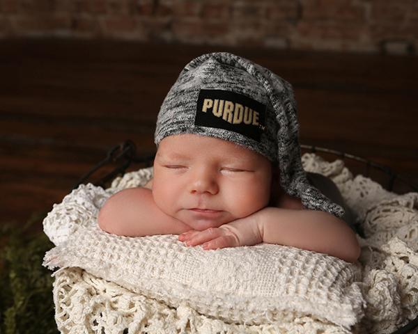 newborn photoshoot purdue university carmel indiana